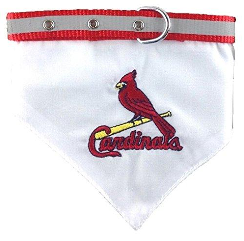 Pets First MLB Bandana - Saint Louis Cardinals Dog Bandana with Reflective & Adjustable Dog Collar, ()
