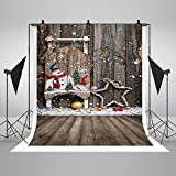 COMOPHOTO Christmas Child Photography Backdrops for Photo Studio 5x7ft Wood Floor Photo Background for Printed Pictures