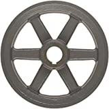 """TB Woods 2AK4158 FHP Bored-to-size V-Belt Sheave, A Belt Section, 2 Grooves, 5/8"""" Bore, Cast Iron, 3.95"""" OD, 6330 max rpm"""
