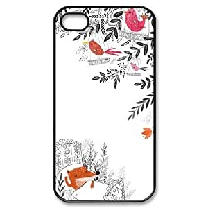 iPhone 4,4S Cases, DDdiy Baby Foxes Custom Hard Back Cover Case for iPhone 4,4S