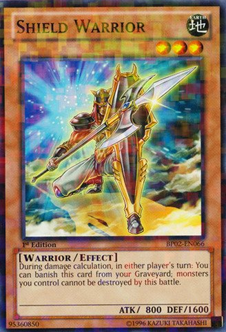 Yu-Gi-Oh! - Shield Warrior (BP02-EN066) - Battle Pack 2: War of the Giants - 1st Edition - Mosaic ()