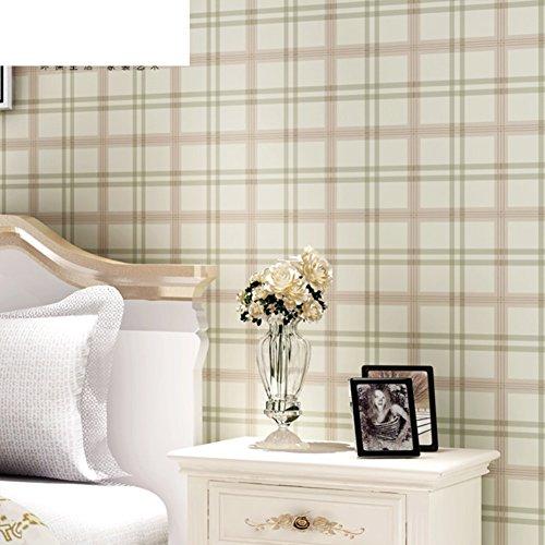 Plaid Pattern Wallpaper/Environmental Non-Woven Wallpaper/Wallpaper for Bedroom/Living Room/Background Wallpaper/Green Box Wallpapers-B