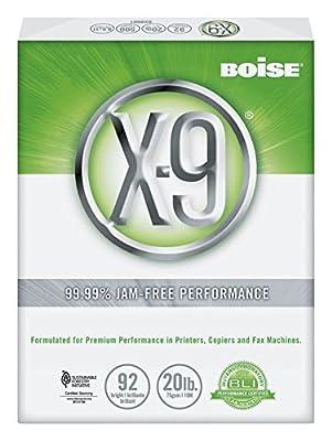 """X-9 Multiuse Copy Paper, 92 Bright, 500 Sheets/Ream, 8 1/2"""" x 14"""", 20 lb."""
