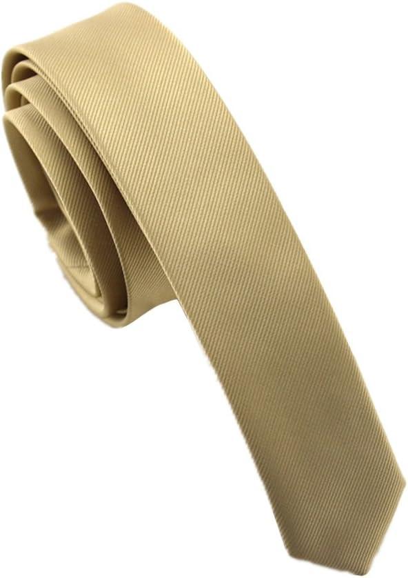 Elviros Corbata estrecha 4cm para hombres fina original para ...