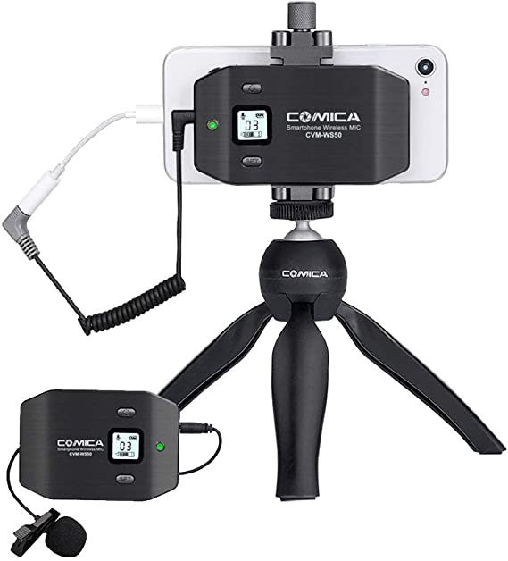 Comica CVM-WS50(C) Wireless Smart Phone Lavalier Microphone System