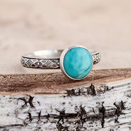 Turquoise Ring Sterling Silver Ring For Women, Natural Kingman Turquoise