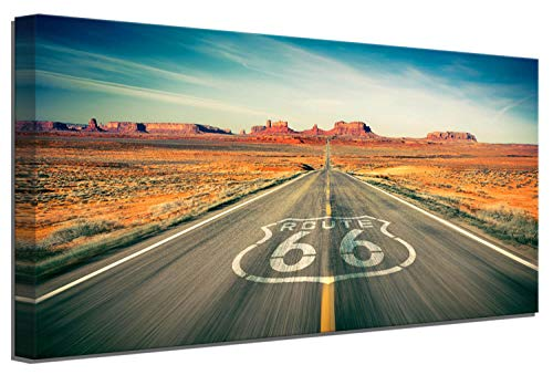 Framed Wall Art The Legendary Route 66 Wall Pictures Large Living Room Decor Bedroom Wall Decor Canvas Art Kitchen Wall Decor Will Rogers Highway Travel Landscape Canvas Wall Art Home Decoration