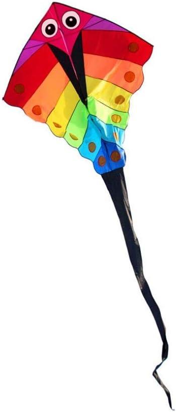 Liudan-Accesorios para cometas Deportes al Aire Libre Divertido Juguete Rainbow Triangle Kite (Incluyendo 200m Handle Line Reel)