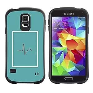 "Pulsar iFace Series Tpu silicona Carcasa Funda Case para Samsung Galaxy S5 , Médico Batir trullo Er Vida minimalista"""