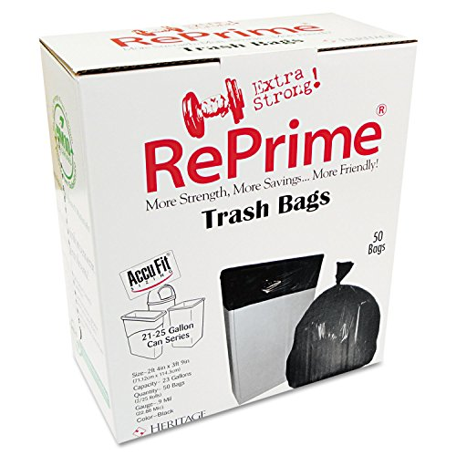 Unisan Liner - RePrime H5645TCRC1 Can Liners, 23gal, 0.9mil, Clear, 28