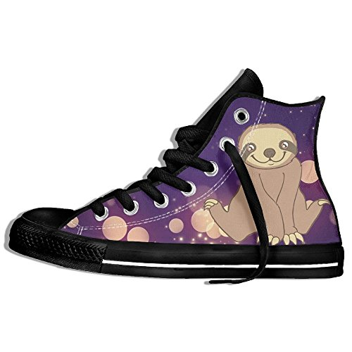 Sloth Drinks High Top Classic Casual Canvas Fashion Shoes...