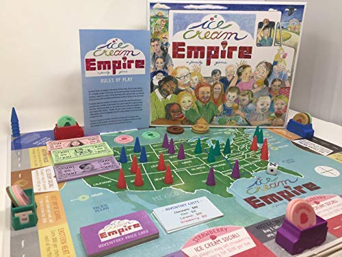 (Ice Cream Empire - a Fun Family Game! by Building a Business One Scoop at a Time, Children of All Ages and The Kids Inside Us All are Inspired to be Entrepreneurs Enjoying This Ice Cream Social Game!)