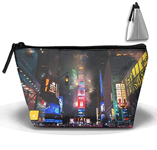 New Years Eve Makeup Pouch with Top Handle for Men and Women