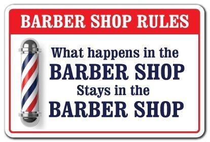 Amazon.com: Reglas de peluquería Metal Póster cartel de ...