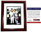 Al Kaline and Brooks Robinson Signed - Autographed Detroit Tigers - Baltimore Orioles 8x10 inch Photo - MAHOGANY CUSTOM FRAME - Certificate of Authenticity (COA) - PSA/DNA Certified