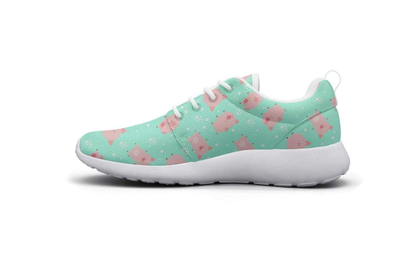 ipdterty Wear-Resistant Sports Sneaker Funny Little Cute Pigs in Snow Attractive Women Fashion Athletic Running Shoes