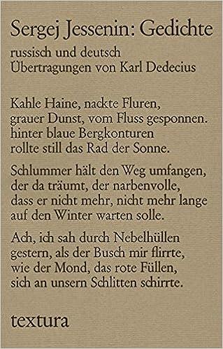 Gedichte Amazoncouk Sergej Jessenin Karl Dedecius