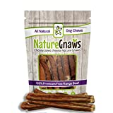 Nature Gnaws Jumbo XL Bully Sticks 11-12 inch (6 Pack) – 100% All Natural Grass-Fed Free-Range Premium Beef Dog Chews – Our Longest Lasting Bully Stick for Large Breeds