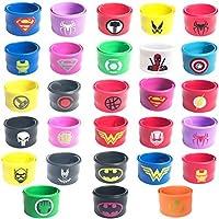 Hizoop Bracciale in Fasce da Supereroe da 28 bracciali per Bambini, Bambine e Ragazze