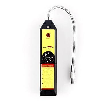 RXYYOS® Alta Precisión Detector de fugas de bombilla halógena Detector de fugas de gas refrigerante detector con bolsa de transporte: Amazon.es: Hogar