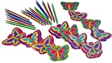 Wiser Road Fly High Butterfly Notepads and Pencils Stationary Bundle Inspiring Creativity and Writing - Set for 24 Kids 4-13 - 48 Piece Bundle (Set for 24 Kids)