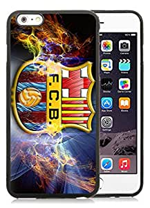 Beautiful Designed Case With fc barcelona Black For iPhone 6 Plus 5.5 Inch TPU Phone Case