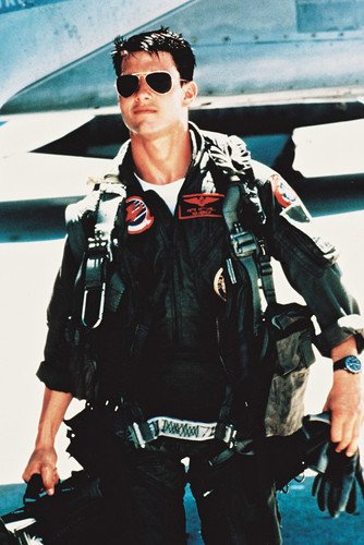 Tom Cruise Top Gun 24X36 Poster Flying Outfit Sunglasse (Tom Cruise Style)
