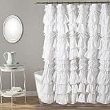 "Lush Decor Kemmy Shower Curtain, 72"" x 72"", White"