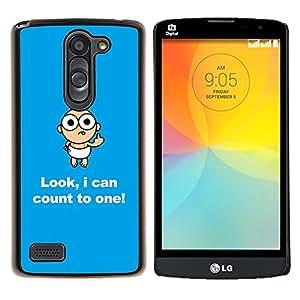 Be-Star Único Patrón Plástico Duro Fundas Cover Cubre Hard Case Cover Para LG L Prime / L Prime Dual Chip D337 ( drôle de citation Joke )