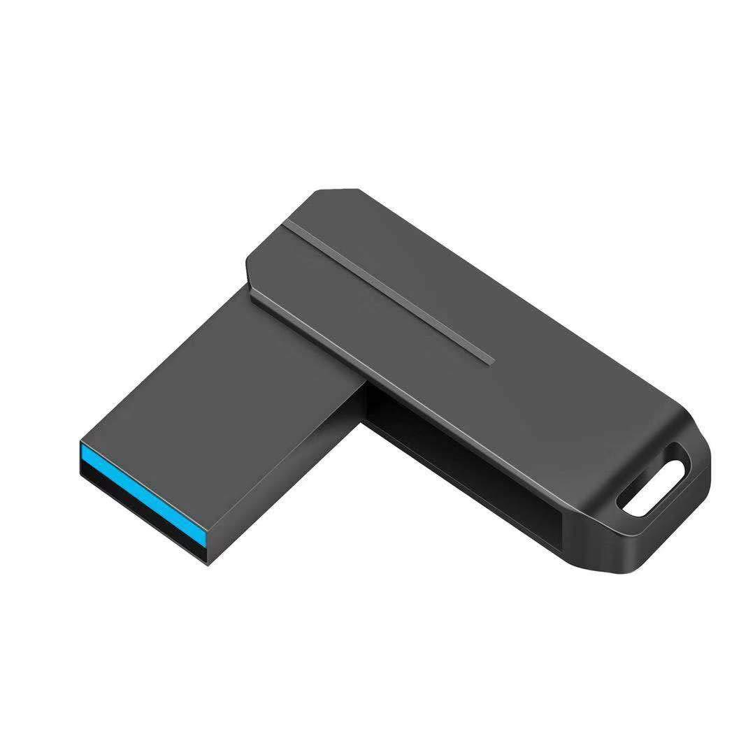 PANGUK 128GB USB 3.0 Flash Drive, Memory Stick high Speed Thumb Drive USB Memory Stick Waterproof, Shockproof 360 Rotary Drive Compact (128GB Black)