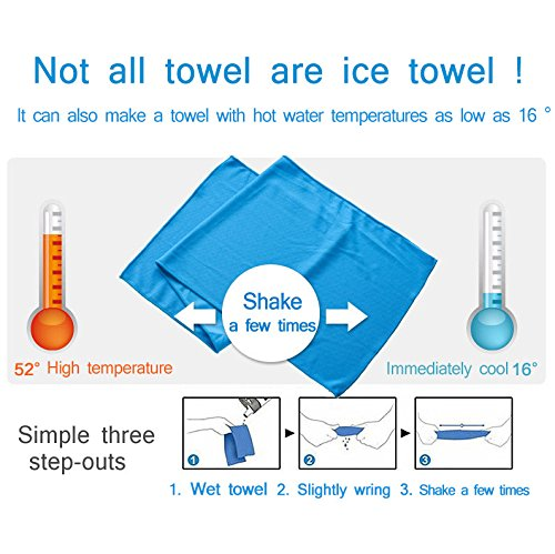 Amazon.com: New Creative Cold Towel Exercise Sweat Summer Ice Towel 38X90Cm Toallas Sports Cool Towel Pva Hypothermia Beach Towel: Home & Kitchen