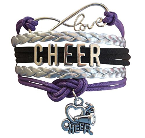 Cheer Bracelet- Cheerleading Infinity Adjustable Bracelet- Cheer Jewelry for -