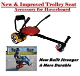 Trolley Seat Universal Go Kart Accessory with LED Light Up Wheels for Hoverboards Fits all Sizes (6.5'',8'' & 10'' Hoverboards)