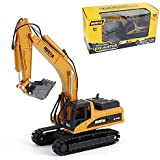 Gemini&Genius Die-cast Excavator Engineering Construction Vehicle Alloy Models Toys for Kids and Decoration for House (Excava