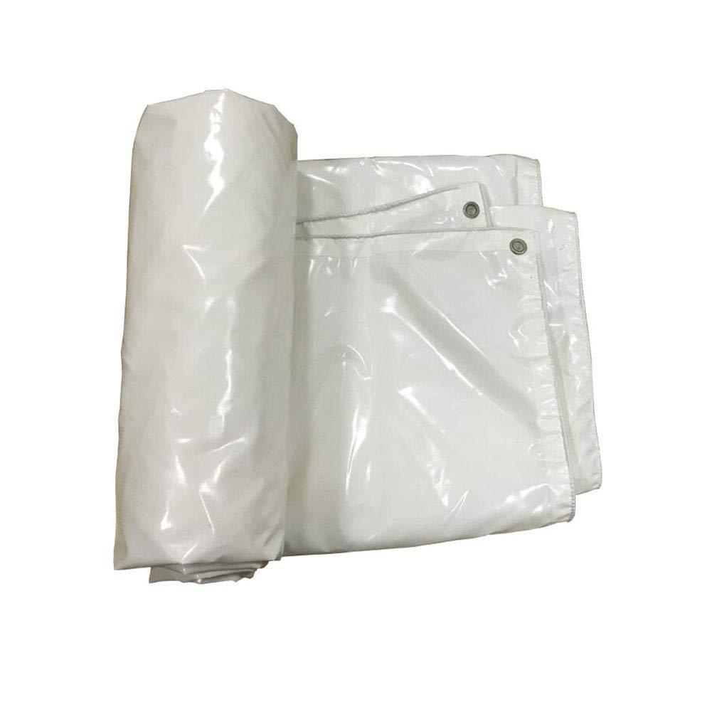 CJC ターポリン ヘビー 義務 高い 密度 65g/m² 緑 100% 防水 (色 : 白, サイズ さいず : 5x4m) 5x4m 白 B07H72HWKQ