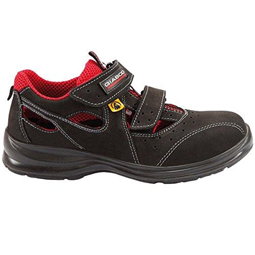 Giasco - Calzado de protección para hombre multicolor negro/rojo 36