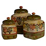 Italian Dinnerware - Canister Set - Handmade in Italy from our Terre Di Chianti Collection