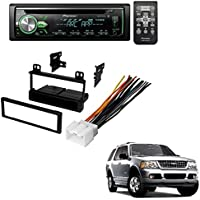 FORD 1995 - 2005 EXPLORER (ALL MODELS) CAR RADIO STEREO RADIO KIT DASH INSTALLATION MOUNTING WIRING HARNESS W/ Pioneer DEH-X4900BT Vehicle CD Digital Music Player Receivers