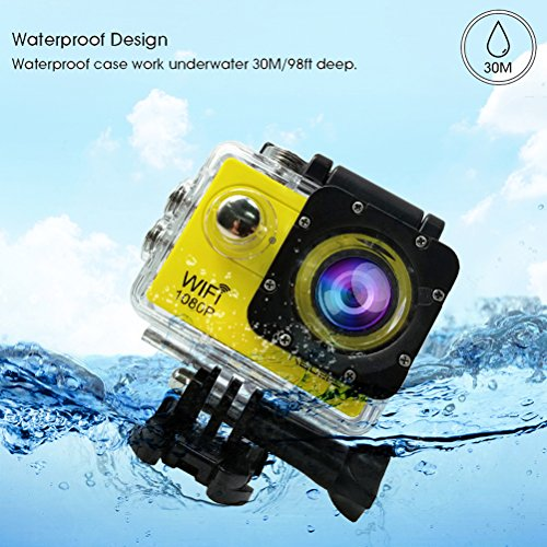 Relee Action Sports WIFI Camera FHD 1080P Underwater Disposable DV Camcorder With 2 PACK BATTERIES