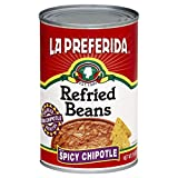 La Preferida Refried Black Beans Chipotle, 16-Ounce (Pack of 12)