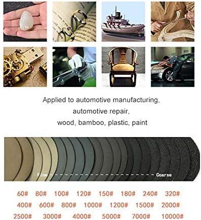 "50mm 2/"" Hook and Loop Sanding Disc 60-10000 Grit Wet or Dry Sandpaper Pads 10pcs"