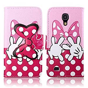 GX Pink Bowknot Pattern PU Leather Case for Samsung Galaxy S4 MINI I9190