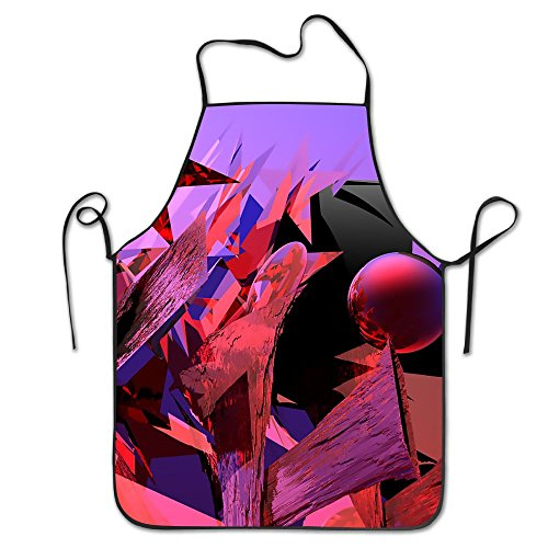 XCGWA Red Geometric Deluxe Aprons Personalized Printing Kitchen ()
