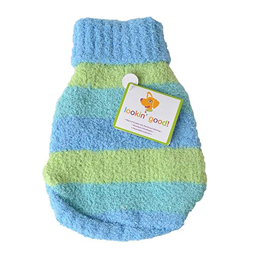 Lookin Good Striped Dog Sweater - Blue (8 Pack)