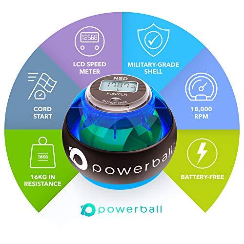 Powerball NSD 280Hz Appareil de renforcement pour Main   Outil d'Exercice pour Avant-Bras et Grip pour Un entraînement… 3