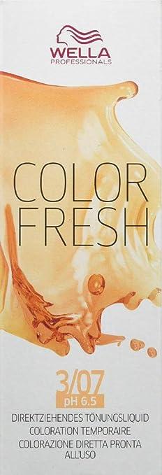Wella Color Fresh 3/07 - Tinte para el cabello (75 ml), color marrón oscuro