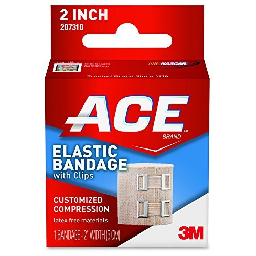Elastic Bandage with E-Z Clips, 2 by 3M