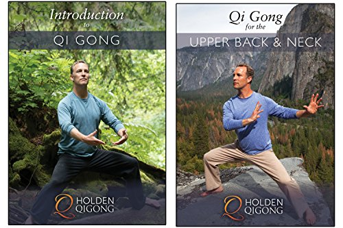 DVD Bundle: Lee Holden Introduction to Qi Gong for Beginners/ Qi Gong for Upper Back & Neck Pain Relief (YMAA) **NEW HD 2017** (Qi Gong For Upper Back And Neck Pain)