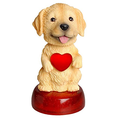Calendar Club Golden Retriever LED Bobble Head, Golden Retriever - Collectible Bobble Doll