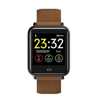 FBMXH Reloj De Hombre Relojes Inteligentes Reloj Impermeable A Prueba De Agua con Presión Arterial para Ritmo Cardíaco Smartwatch, Oro Sin Caja: Amazon.es: ...